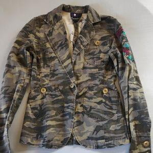 Morbid Threads army print jacket size XS
